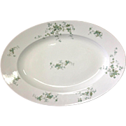 REDUCED Antique Depose French Platter with Pretty Vine Flower Decoration