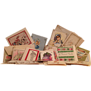VINTAGE GIFT CARDS  1940'S  1950'S