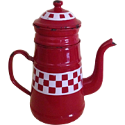 FRENCH ENAMEL BIGGEN COFFEE POT