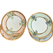 REDUCED Antique Sevres Dessert Plates, Set of Four, Artist Signed