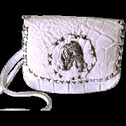 Vintage Off White Jose Cotel Cross Body Bag