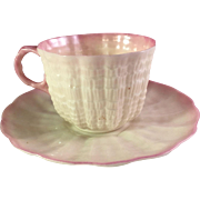 Paper Thin Demi-Tasse Fermanagh Belleek Cup and Saucer
