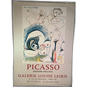 Picasso Dessins 1966-1967 Galerie Louise Leiris Poster