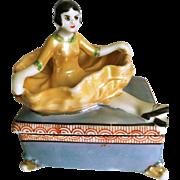 Art Deco Lusterware Trinket/Jewelry Box