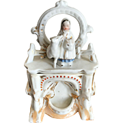 SALE Conta and Boehme Fairing Trinket Box with Miniature Statue