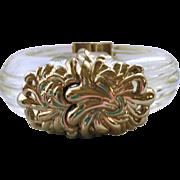 SALE Inna Citrine Goldtone and Lucite Cuff Bracelet