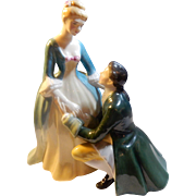 """REDUCED Royal Doulton 1961 Figurine """"The Suitor"""""""