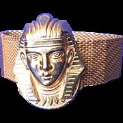 SALE Miriam Haskell Egyptian Revival King Tut Bracelet