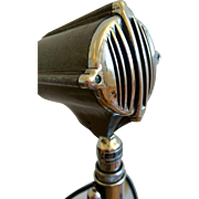 SOLD Vintage Astatic Microphone Model no. DN-HZ - Microphone with Model no. G stand
