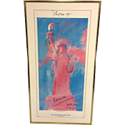 SALE Vintage Original Signed Peter Max Serigraph Poster of Statue of Liberty 1981 Pop Artist .