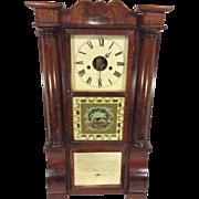 SALE Antique 1850s Forestville Mfg Co (J C Brown) Triple Decker Column & Cornice Clock Unique