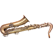 SALE Vintage Buescher Tru-Tone Saxophone in Case Low Pitch w/ Mouthpieces 1920s