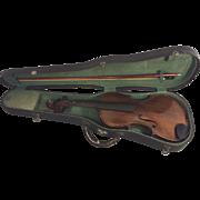 SALE Vintage Nippon Violin and Case w/ Japan Bow Post World War II