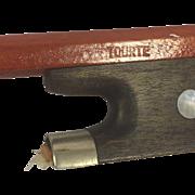 Vintage Tourte Violin Bow Unique Slide for Frog