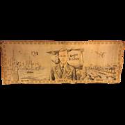 Vintage Charles Lindbergh Tapestry 1927 New York to Paris Solo Transatlantic Crossing