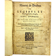 SALE Henry de Bracton On the Laws and Customs of England 1640 Owned by Delaware ...