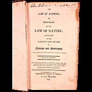 SALE Antique Law of Nations Book 1805 by M D Vattel with US DE Senator ...