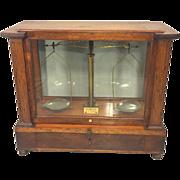 SALE Vintage Arthur H Thomas Jeweler Apothecary Scale Philadelphia PA w/ Stirrups and Pans ...