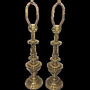 SALE Vintage Pair of Stiffel Brass Table Lamps Work