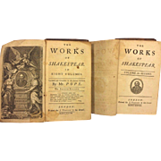 SALE The Works of Shakespear 10 Volumes Alexander Pope 1728 Jacob Tonson Leather Covers 2nd Ed