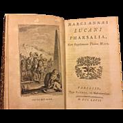 SALE Antique Book Marci Annaei Lucani Pharsalia 1767 Cum Supplemento Thomae Maii Luca Nus