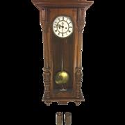 SALE Antique Gustav Becker Vienna Wall Regulator Clock Running & Striking 1886