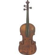 SALE Antique French Violin 2 Piece Belly & 1 Piece Back Inlaid Purfling Neck Disconnected from