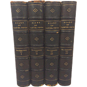 SALE Antique Diary and Correspondence of Samuel Pepys  1854 4 Volumes 5th Edition Richard Lord