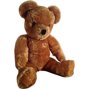 "Fabulous 21"" Farnell Alpha English Teddy Bear. 1940s/50s"