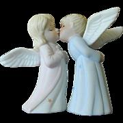 Vintage Lefton Kissing Angels