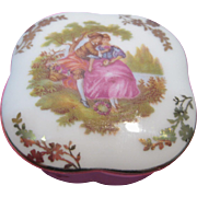Limoges Hand Painted Trinket Box