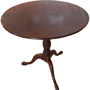 American Queen Anne tilt top table