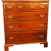 George III period Hepplewhite mahogany 2 over 3 chest