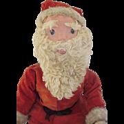 26 inch  Wood Jointed Display Santa Doll ~  Fur, Velvet CUTE!!