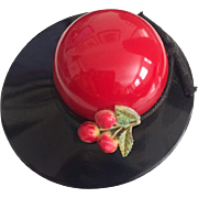 Lo and Behold -- A Bakelite Hat Pin with Cherries