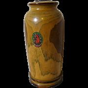 Arts & Crafts, Wooden Vase from Native Ozark Woods ca. 1930