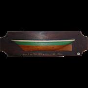 English Half-Hull Model, Tulley & Co. , Bristol