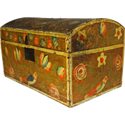 19th Century French Provincial Painted Dome-Top Box