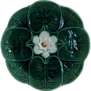 Majolica Pottery Water Lily Plate c 1890