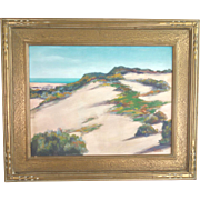 "Roberto Vallangca ""Ocean Beach Sand Dunes"" 1943, oil on canvas board, California Imp"