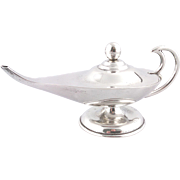 Mexican Plat-Mex SA Sterling silver genii oil lamp, 1960's to 70's