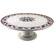 "Richard Ginori ""Rapallo"" pattern, footed cake plate"
