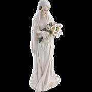 Porcelain bride figurine pocket vase, German, 1920-30's