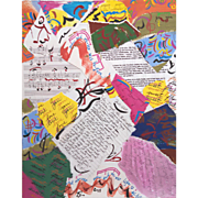 """Toby Lurie """"Collage Study 2"""" acrylic collage 2015"""
