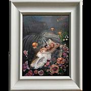 "Original contemporary painting ""romance"". Acrylic on canvas, by Ksenia Sapunkova, Si"