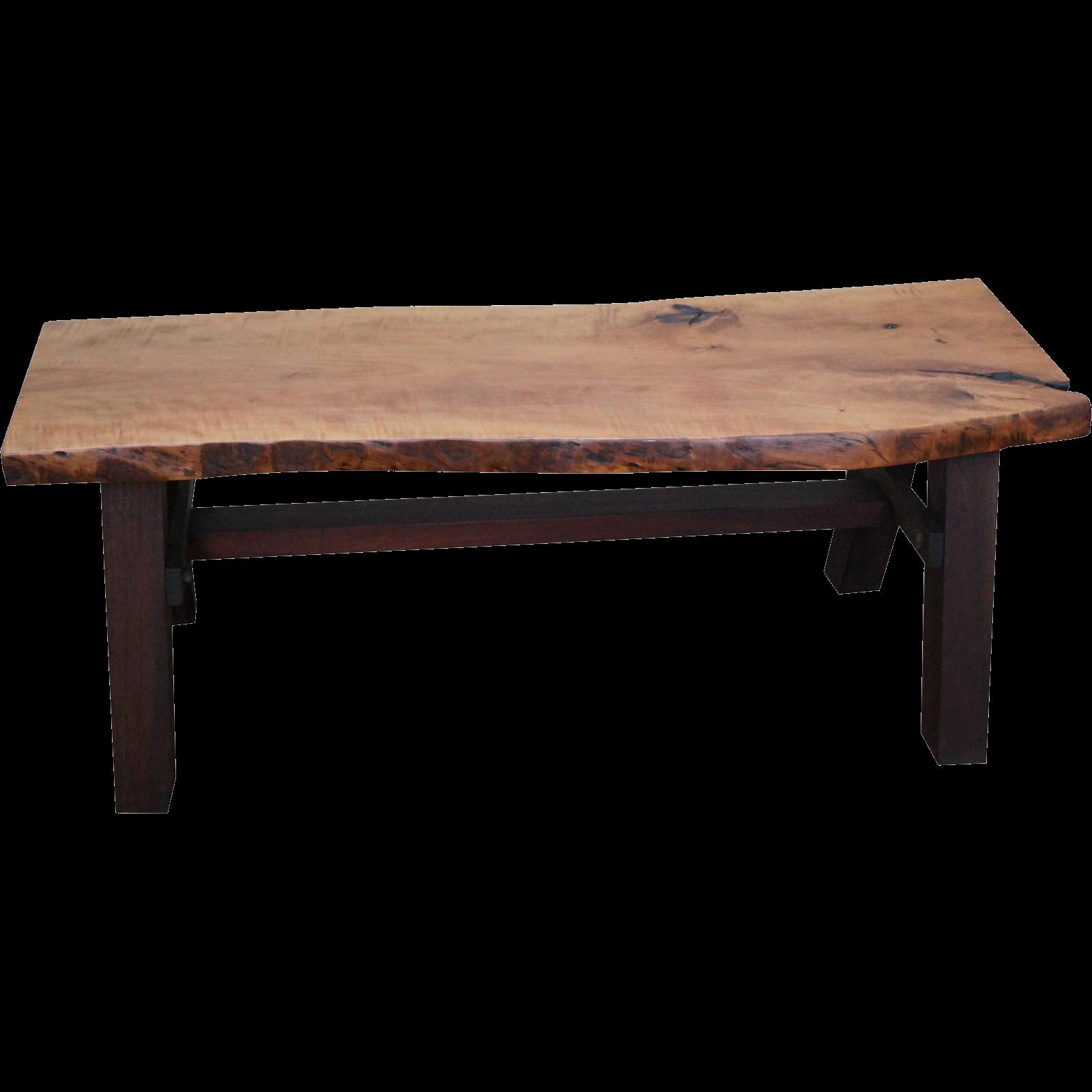 Bucks county studio made free form slab wood coffee table for Free form wood coffee tables