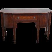 Antique 19th Century Mahogany Hepplewhite Style Inlaid Brandy Board Sideboard