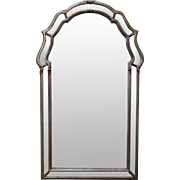 LaBarge Italian Silver Gilt Hanging Wall Mirror