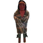 """SALE Vintage Skookum Indian Brave Doll - Composition Head 12"""" Tall Early 20th Century"""