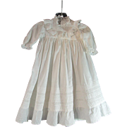 SOLD Lovely Victorian Child's Dress / Gown Ruffled Eyelet Yoke and Hem